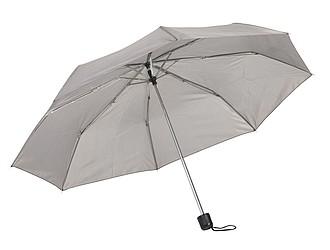 Skládací kapesní deštník, šedý