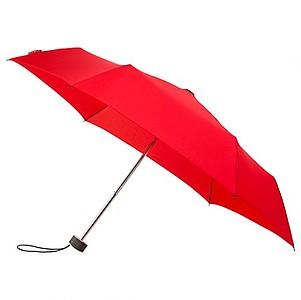 BESIR Skládací ultra lehký deštník s odlehčenou konstrukcí, červená