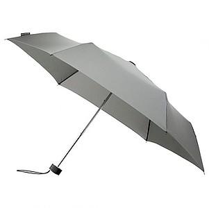 BESIR Skládací ultra lehký deštník s odlehčenou konstrukcí, šedá - reklamní deštníky