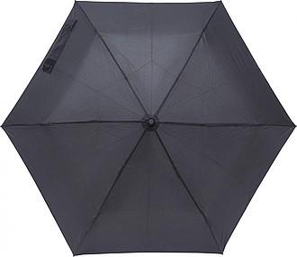 Skládací manuální deštník, pr. 90cm, černý