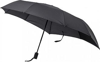 Skládací černý automatický deštník, pr. 97cm