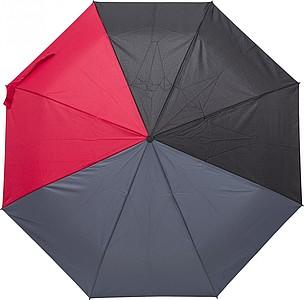 Skládací automatický deštník, pr. 97cm, černo šedo červený