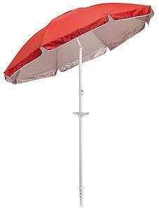 PAROT Plážový slunečník, dvoudílná tyč, pr.156cm, červený