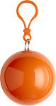 BALERÍNA Pláštěnka v přívěšku s karabinou, oranžová