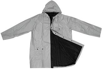 Oboustranná pláštěnka, PVC, velikost XL, černo stříbrná