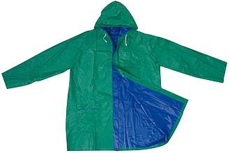 Oboustranná pláštěnka, PVC, velikost XL, zelená modrá