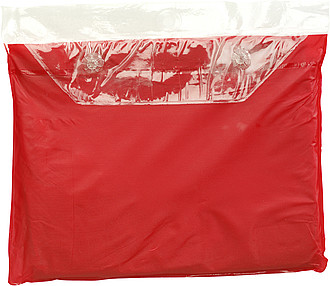 Pončo pláštěnka, červená - reklamní deštníky