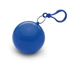 Transparentní pončo v obalu, modrá