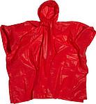 RAFAELO Pončo pláštěnka v obalu, materiál PEVA, červená