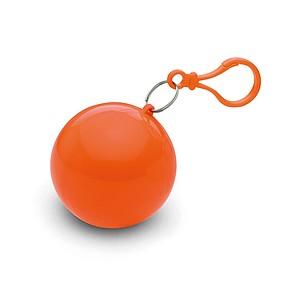 Transparentní pončo v obalu, oranžové