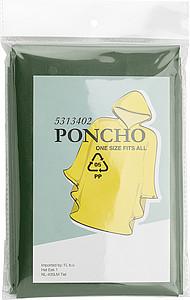 Pončo pláštěnka (cca 100x120cm), materiál PEVA, zelená - reklamní deštníky