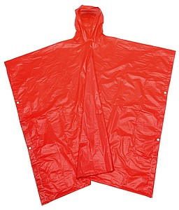 Pláštěnka v pouzdře, červená