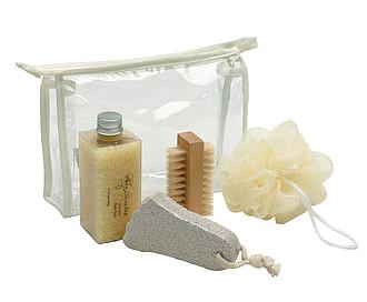 Koupelnový set v kosmetické taštičce