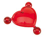 Masážní pomůcka ve tvaru srdce