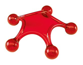 Masážní hvězdice, červená
