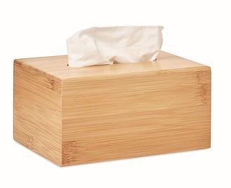 Bambusová krabice na kapesníky, středně hnědá
