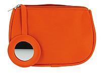 Kosmetická taštička se zrcátkem, oranžová