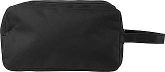 Kosmetická taška, 600d polyester, dvě přihrádky na zip ručníky s potiskem