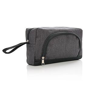 Toaletní taška s přední kapsou na zip, tmavě šedá