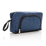Toaletní taška s přední kapsou na zip, námořní modrá
