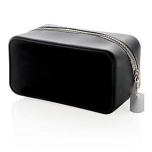 Silikonová cestovní kabelka, černá
