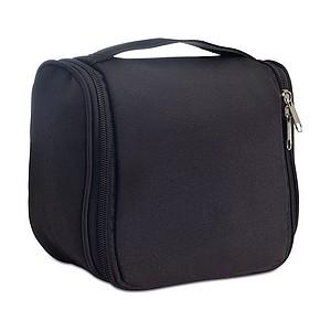 Kosmetická taška s háčkem na zavěšení, černá