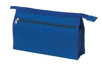 Toaletní taštička na zip s kapsičkou na zip, modrá