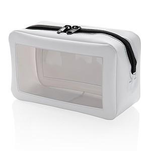 Průhledná toaletní taška, bílá