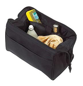 Kosmetická taška na zip, černá