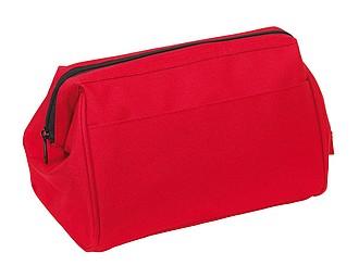 Kosmetická taška na zip, červená