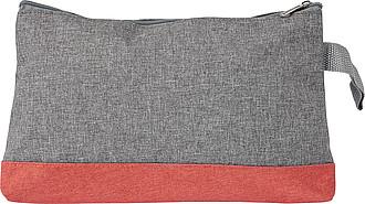 Toaletní taška, šedo červená