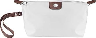 Kosmetická taška s poutkem na zápěstí, bílá