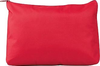 Velká kosmetická taška na zip, červená