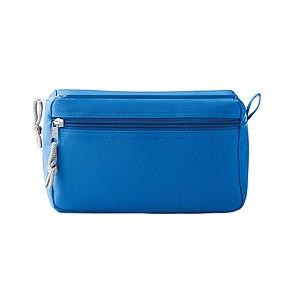 Kosmetická taška s dvojitým zipem, modrá