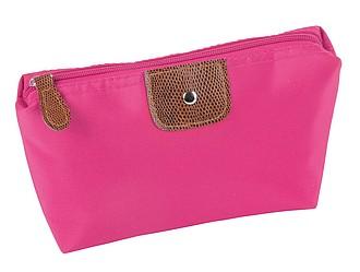 Kosmetická taška na zip, růžová
