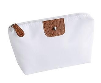 Kosmetická taška na zip, bílá