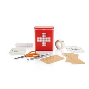Sada první pomoci v plechové dóze, 18 dílů