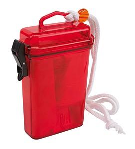 Plastová krabička se sadou první pomoci, červená