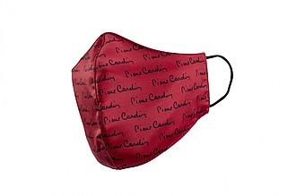 PIERRE CARDIN CARE rouška červená s černým potiskem ručníky s potiskem