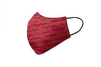 PIERRE CARDIN CARE rouška červená s černým potiskem