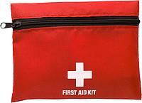 První pomoc v červené nylonové taštičce na zip