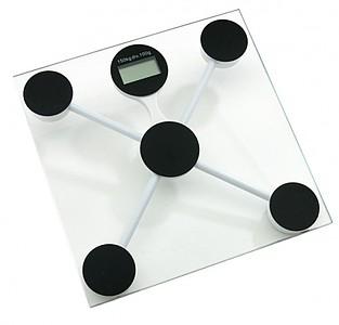 Osobní váha s tvrzeného skla, kapacita 2-150 kg