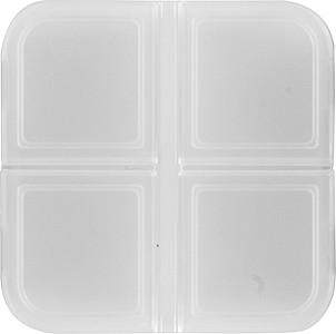 KLINIK Krabička na pilulky čtvercová se 4 boxy, transp.