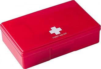 Plastová lékárnička. Červená.