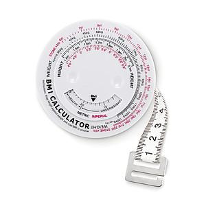 BMI metr, bílá