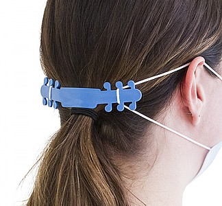 Pásek na zachycení roušky za hlavou, modrá
