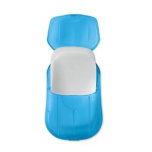 Mýdlové lístky, 20ks, v plastové krabičce, modré