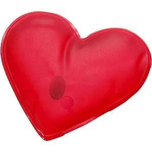 Zahřívací polštářek ve tvaru srdce, červená