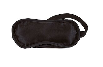 Maska na spaní, polyester, bavlna, černá