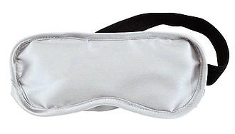 Maska na spaní, polyester, bavlna, stříbrná